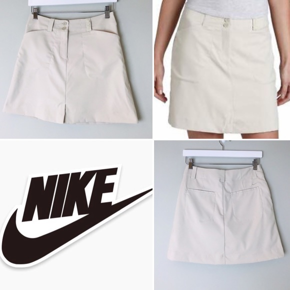 Nike Pants - Nike Womens Tan Golf Skort with Built In Shorts